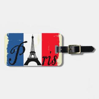Paris grunge bag tag
