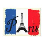 Paris grunge stretched canvas print