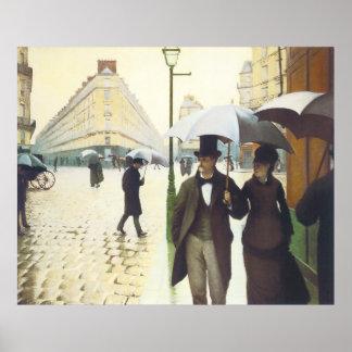 París, Gustavo Caillebott Póster