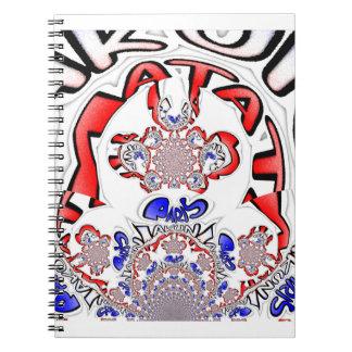 Paris Hakuna Matata Paris Blue Red White.png Notebook
