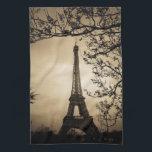 """Paris Hand Towel<br><div class=""""desc"""">Antique style picture of the Eiffel Tower in Paris,  France</div>"""