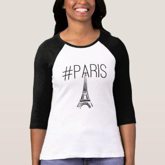 Paris hashtag tshirt