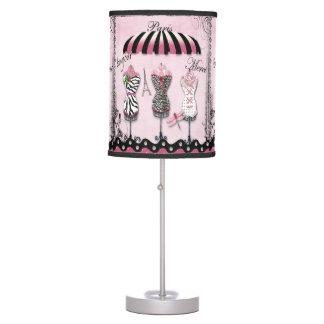 Paris Haute Couture, Eiffel Tower & Dragonfly Desk Lamp