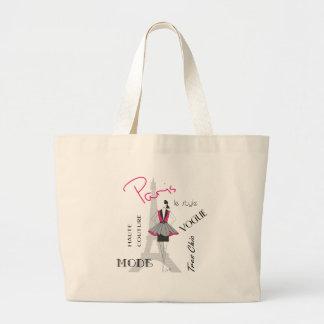 Paris Haute Couture, Fashion, Eiffel Tower Jumbo Tote Bag