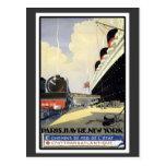Paris Havre New York Postcard