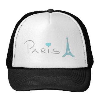 Paris Heart Eiffel Tower Trucker Hat