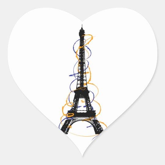 Paris Heart Sticker