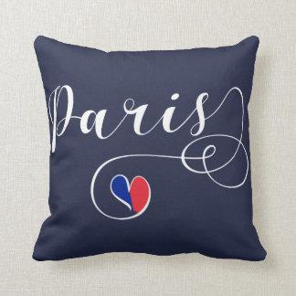 Paris Heart Throw Pillow,  France Throw Pillow