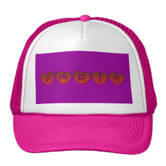 Paris Hearts Trucker Hat Mesh Hats