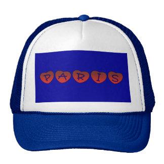Paris Hearts Trucker Hat Mesh Hat