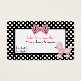 Paris High Fashion Pink Poodle Mommy Calling Card