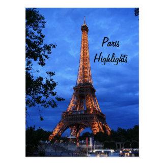 Paris Highlights Postcard