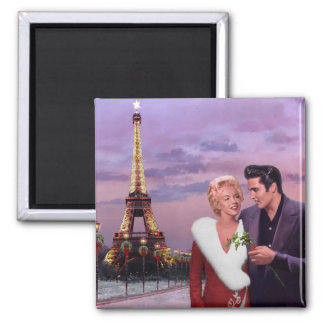 Paris Holiday 2 Inch Square Magnet