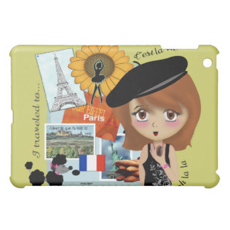 Paris Holiday Girl iPad Case