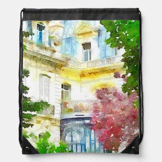 Paris Home Drawstring Backpack