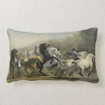 Paris Horse Market 1855 Throw Pillow