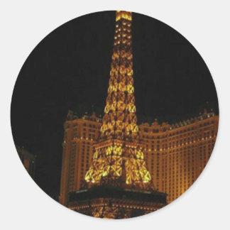 Paris Hotel Vegas Classic Round Sticker