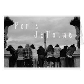 Paris, I Love You Greeting Cards