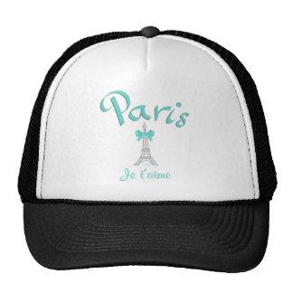 Paris I love you, Eiffel Tower, Aqua Trucker Hat