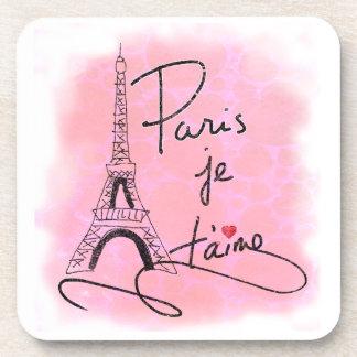 Paris I Love You Pink PXLY Coaster