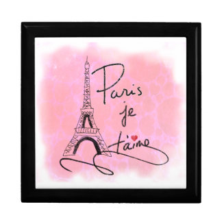 Paris I Love You Pink PXLY Keepsake Box
