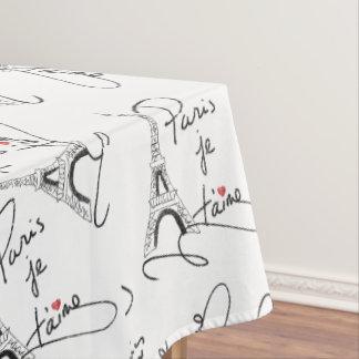 Paris I Love You PXLY Tablecloth