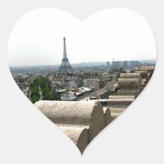 París I Pegatina En Forma De Corazón