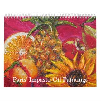 Paris' Impasto Oil Paintings Calendar. Calendar