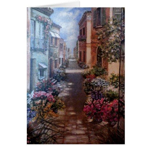 Paris in bloom card