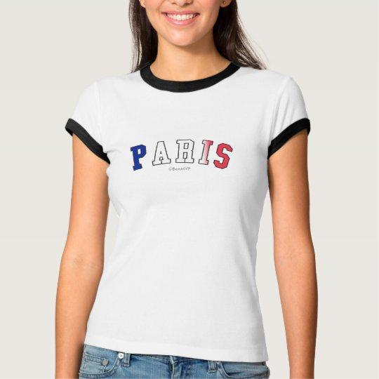 Paris in France national flag colors T-Shirt
