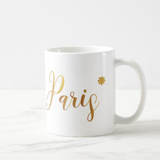 Paris-in-Gold-with-Flower Coffee Mug