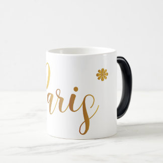 Paris-in-Gold-with-Flower Magic Mug
