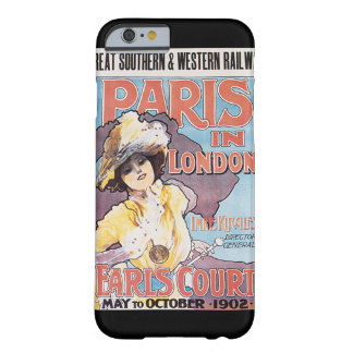 Paris in London Vintage Travel Poster Barely There iPhone 6 Case