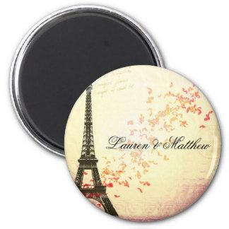 Paris in Love - Eiffel Tower 2 Inch Round Magnet
