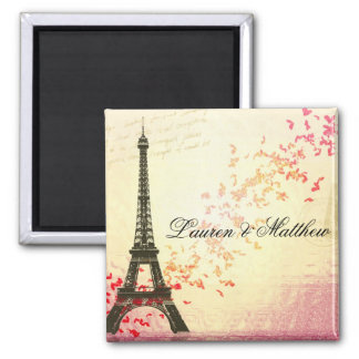 Paris in Love - Eiffel Tower 2 Inch Square Magnet