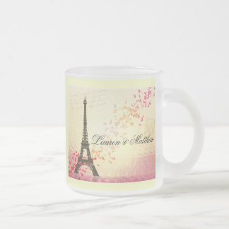 Paris in Love - Eiffel Tower Frosted Glass Coffee Mug