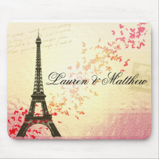Paris in Love - Eiffel Tower Mouse Pad
