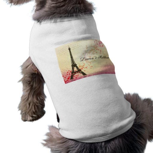 Paris in Love - Eiffel Tower Pet T Shirt