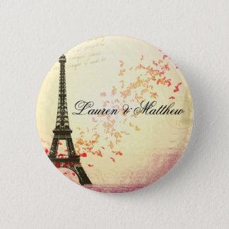 Paris in Love - Eiffel Tower Pinback Button