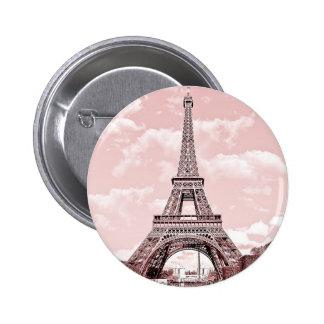 Paris in Pink Eiffel Tower 2 Inch Round Button