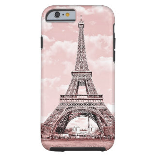 Paris in Pink Eiffel Tower Tough iPhone 6 Case