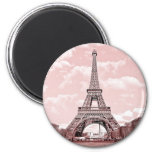 Paris in Pink Eiffel Tower France magnet