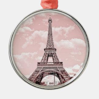 Paris in Pink Eiffel Tower Ornaments