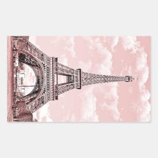 Paris in Pink Eiffel Tower Stickers