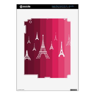 Paris in Pink Skin For iPad 3