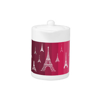 Paris in Pink Teapot