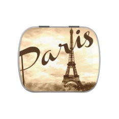 Paris in Sepia Candy Tin at Zazzle