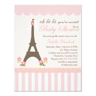 Paris in Spring Baby Shower Custom Invites
