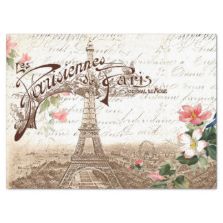 Paris in Spring Decoupage Tissue Paper