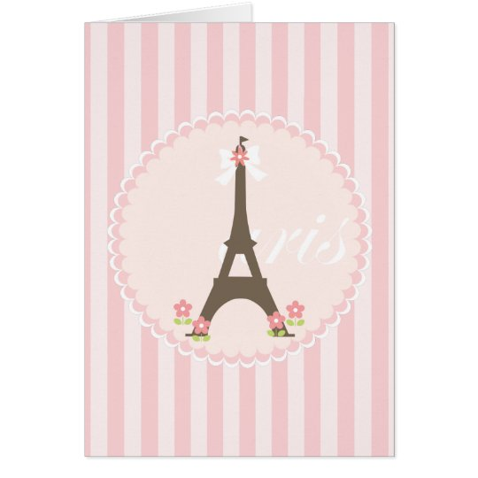 Paris in Spring Girly Card